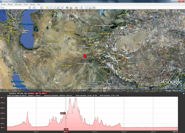 topographie google earth