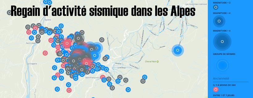 Regain d'activité sismique dans les Alpes