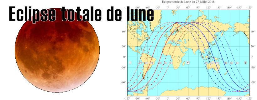 Éclipse totale de la Lune le 27 juillet 2018