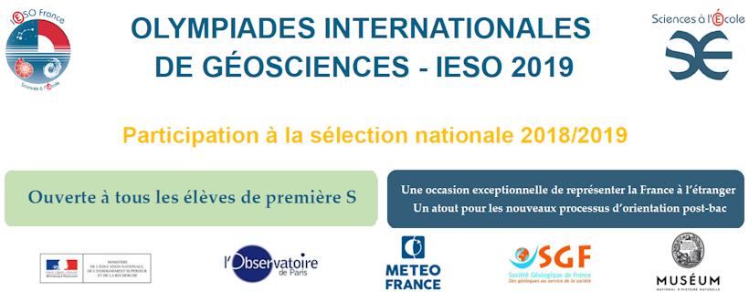 13ème édition du concours des Olympiades Internationales de Géosciences (IESO)