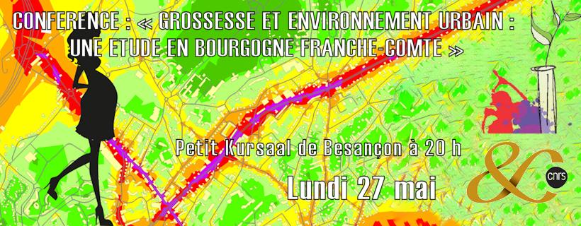 Conférence «Grossesse et environnement urbain : une étude en Bourgogne Franche-Comté»