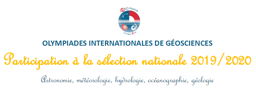Olympiades internationales de géosciences : inscriptions et nouveautés
