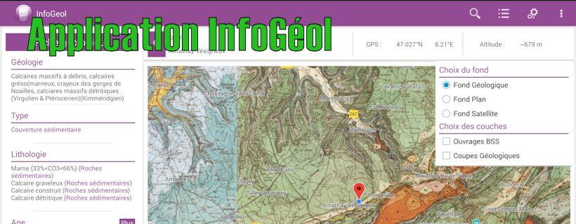 Infogéol: une application indispensable sur le terrain et très utile dans nos classes