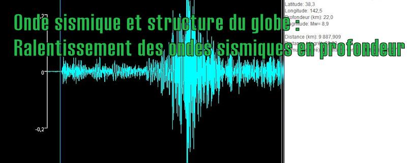 Onde sismique et structure du globe : Ralentissement des ondes sismiques en profondeur