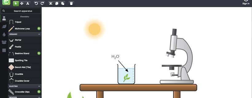 Chemix, un site pour schématiser des dispositifs expérimentaux