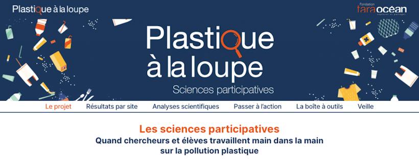 Site web de l'opération «Plastique à la loupe»