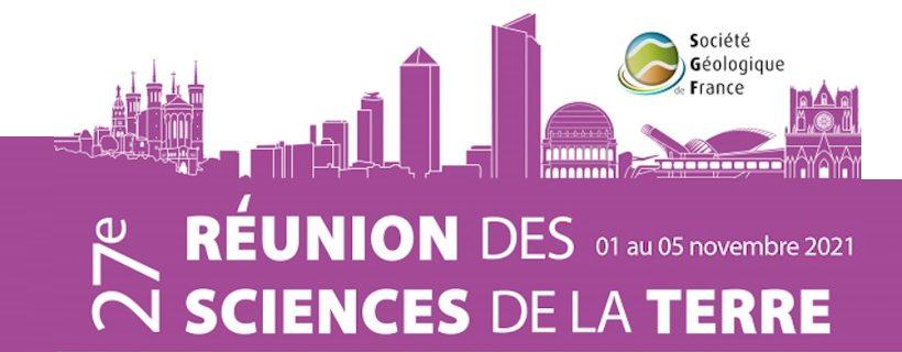 Inscription aux journées de la Réunion des Sciences de la Terre, Lyon 2021